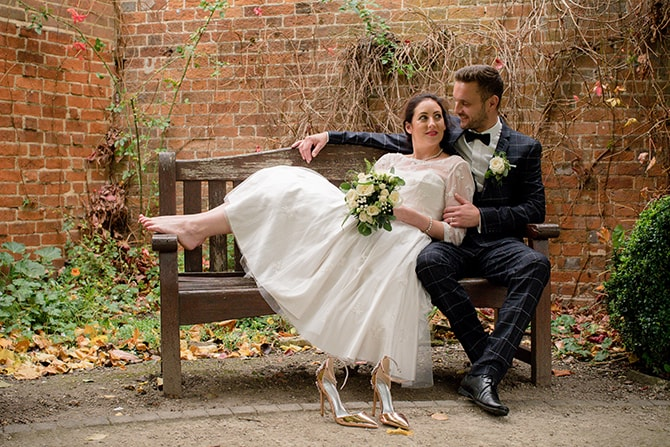 Bride and Groom outside | Beautiful Countryside Wedding Inspiration in Buckinghamshire | KLP Photography