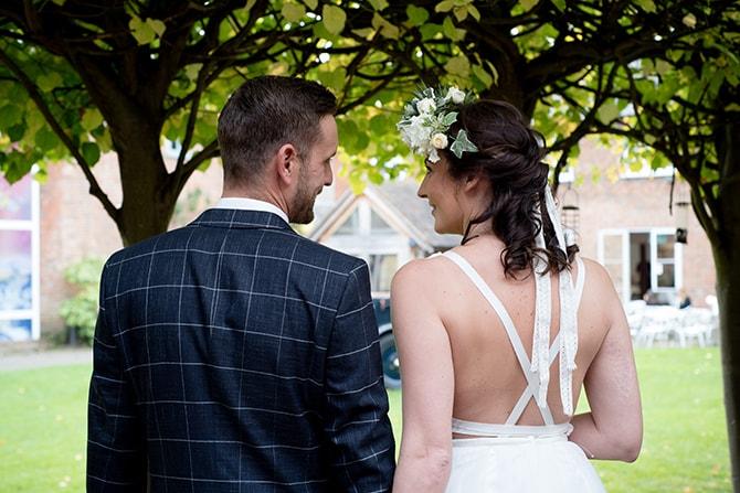 Engaged couple outside wedding | Beautiful Countryside Wedding Inspiration in Buckinghamshire | KLP Photography