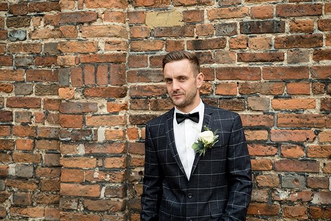 Groom in smart grey suit | Beautiful Countryside Wedding Inspiration in Buckinghamshire | KLP Photography