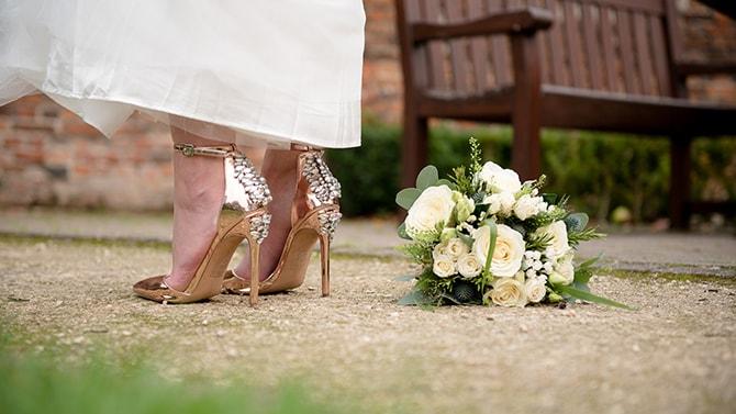 High heel bridal shoes | Beautiful Countryside Wedding Inspiration in Buckinghamshire | KLP Photography
