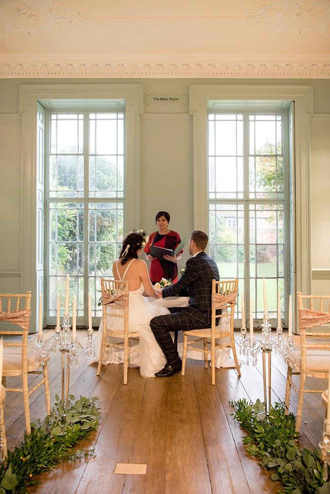 Wedding ceremony at Bucks County Musuem | Beautiful Countryside Wedding Inspiration in Buckinghamshire | KLP Photography