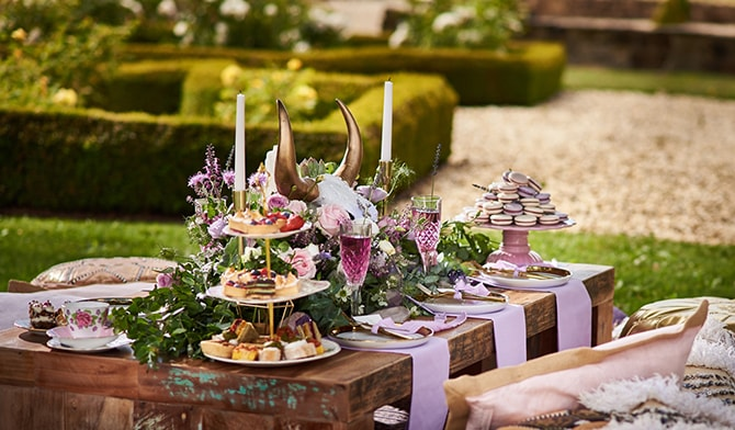 Country Garden Meal | Luxury Country Garden Boho | Sephory Photography