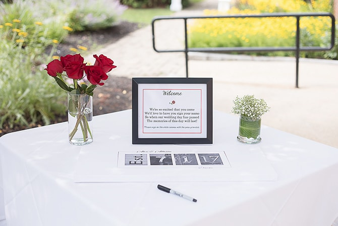 Wedding guestbook | Modern Elegance in Exeter - Emily Teresa Photography