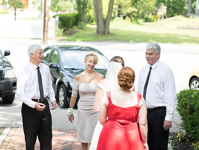 Parent's reaction to bride's dress | Modern Elegance in Exeter - Emily Teresa Photography