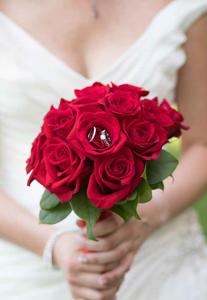 Red rose bouquet | Modern Elegance in Exeter - Emily Teresa Photography