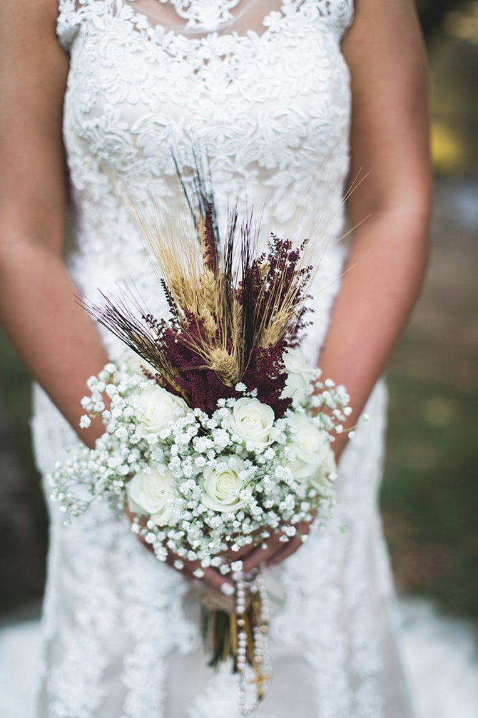 Rustic Autumnal Wedding Bouquet | Rustic Dreaming in Pembroke | Jasmine White Photography