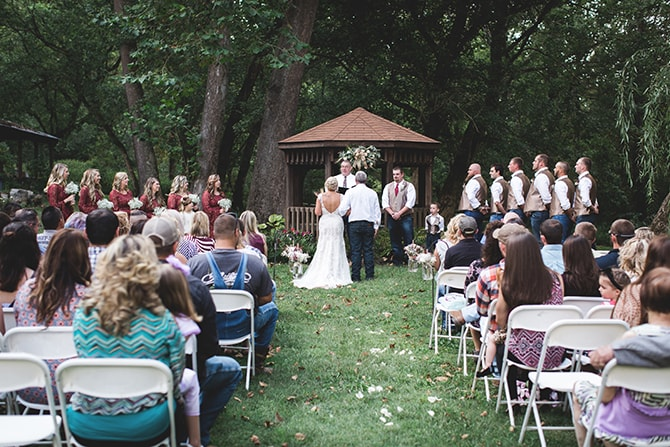 Outdoor wedding ceremony | Rustic Dreaming in Pembroke | Jasmine White Photography