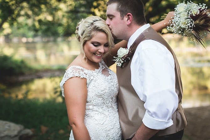 Bride and groom after ceremony | Rustic Dreaming in Pembroke | Jasmine White Photography