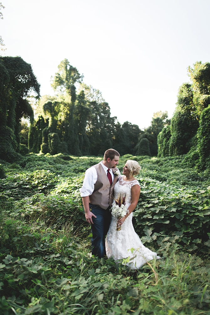 Bride and Groom in countryside | Rustic Dreaming in Pembroke | Jasmine White Photography