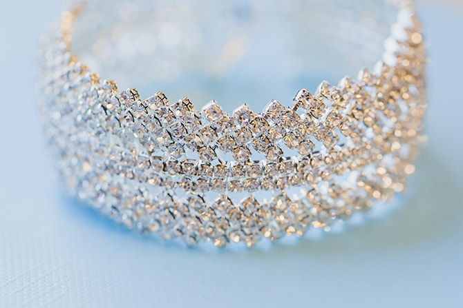 Bridal tiara | Stylish Traditional Wedding in Kansas | Wisdom-Watson Weddings