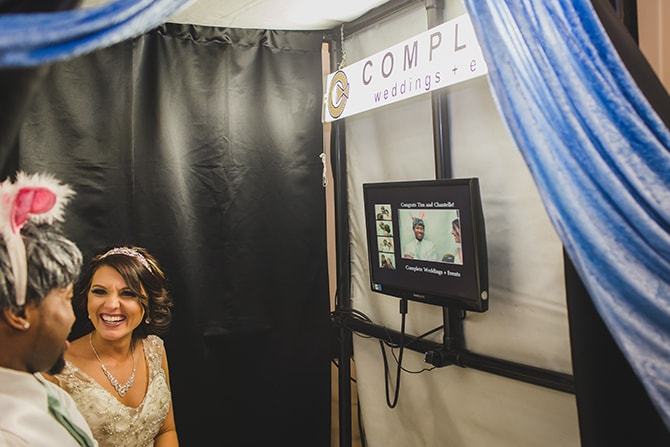 Wedding photo booth | Stylish Traditional Wedding in Kansas | Wisdom-Watson Weddings