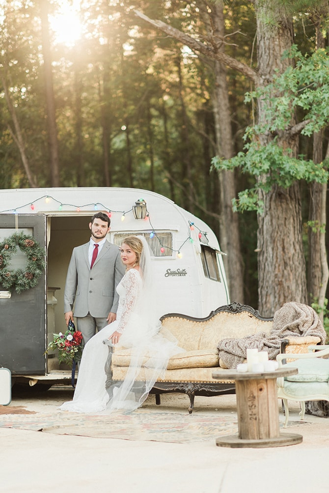 Outdoor winter wedding setup | A Very Boho Christmas | Kayla Duffey Photography