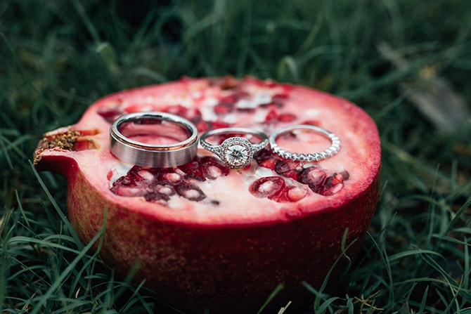 Wedding rings | Intimate Winter Chapel Wedding | Rebecca Chesney Photo