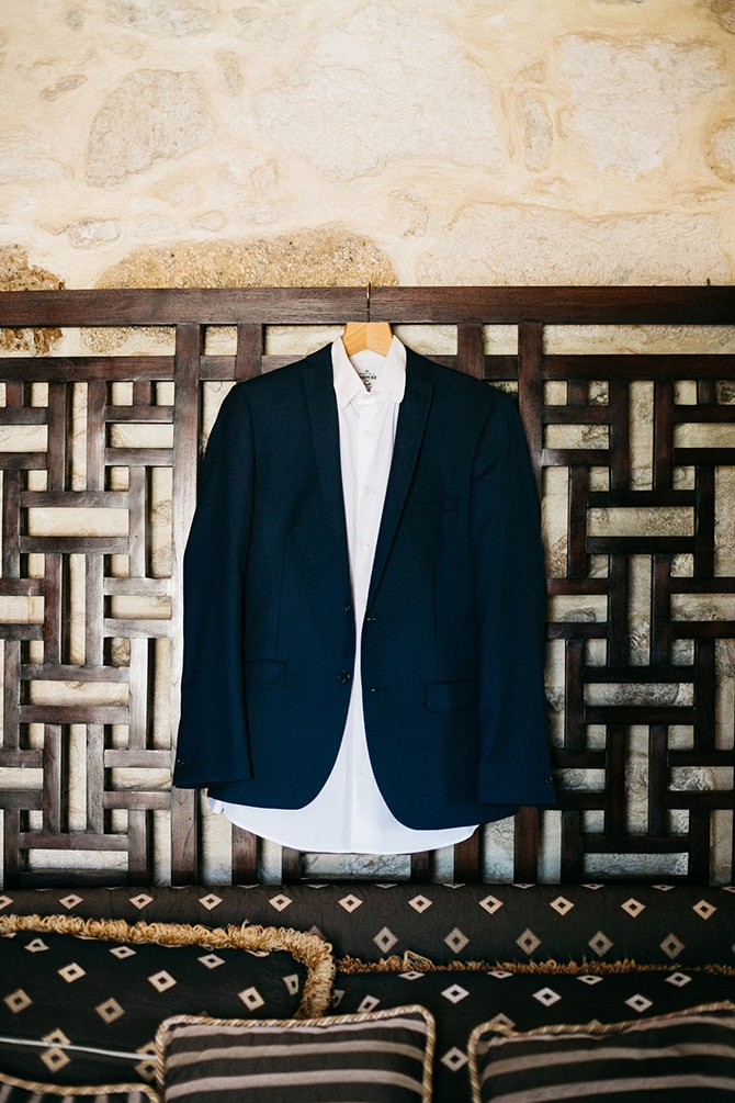 Grooms suit | Natural Alfresco Wedding in Crete HannaMonika Photography