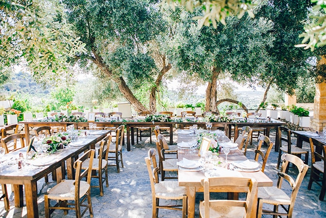 Rustic outdoor Wedding | Natural Alfresco Wedding in Crete HannaMonika Photography
