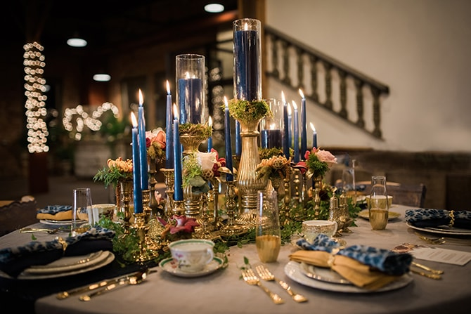 Wedding Candle Centrepieces | Trendy Garden Wedding Inspiration | Inspired Eye Photography
