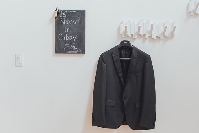 Groom's suit jacket