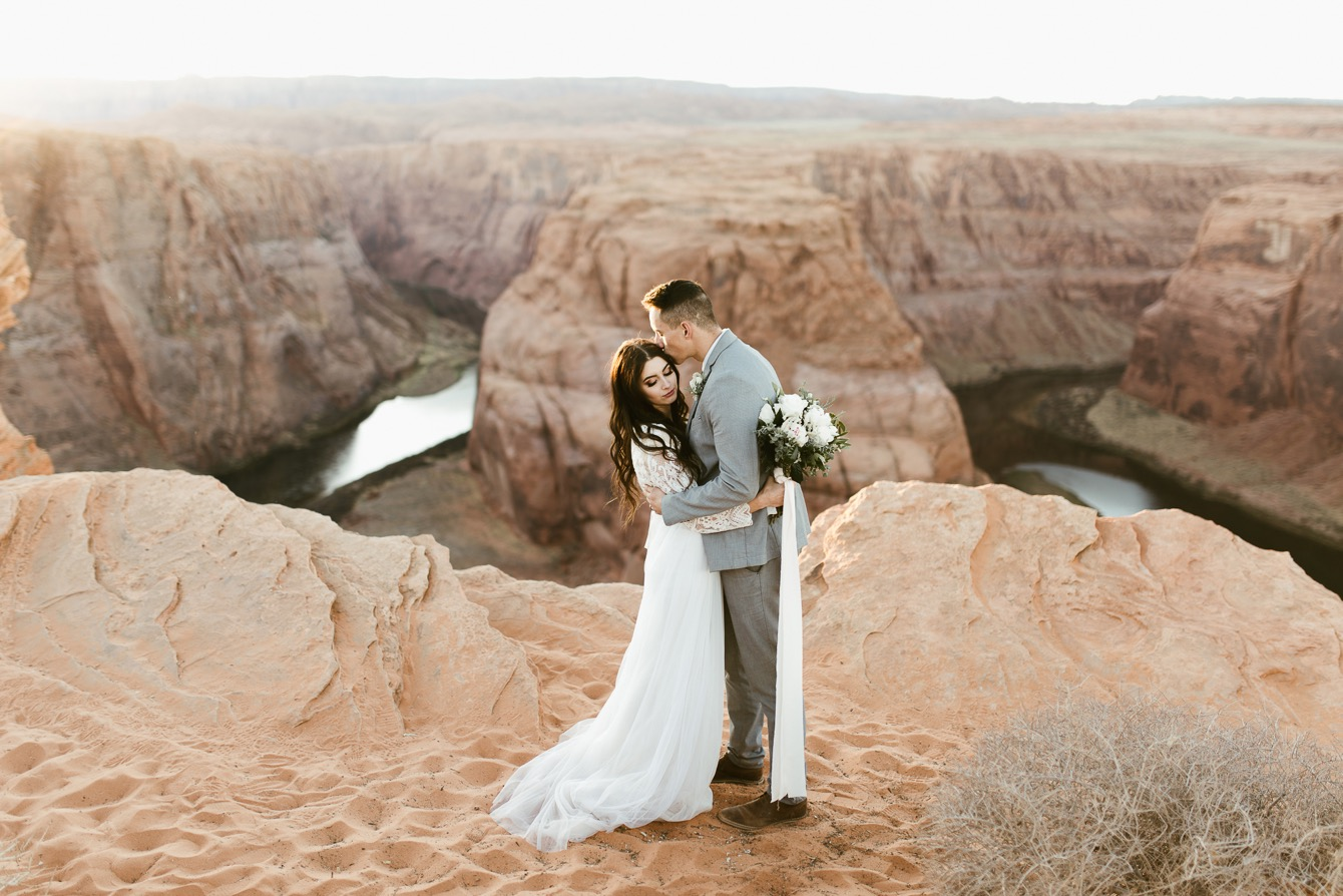Elopement on the Cliffs in Arizona