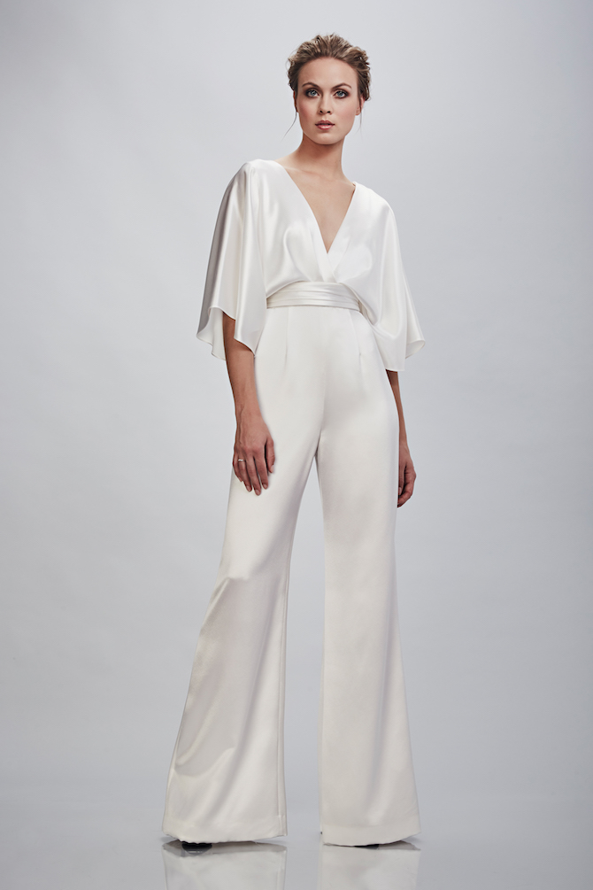 Theia Bridal Jumpsuit