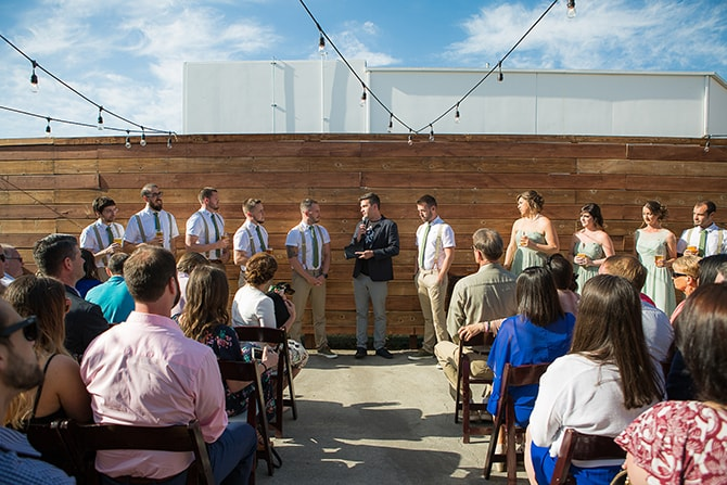Outdoor wedding ceremony in San Diego