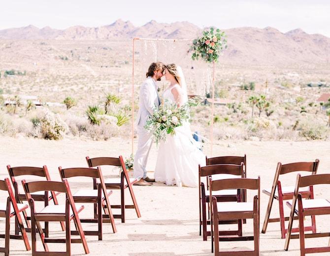 Outdoor Desert Wedding Ceremony