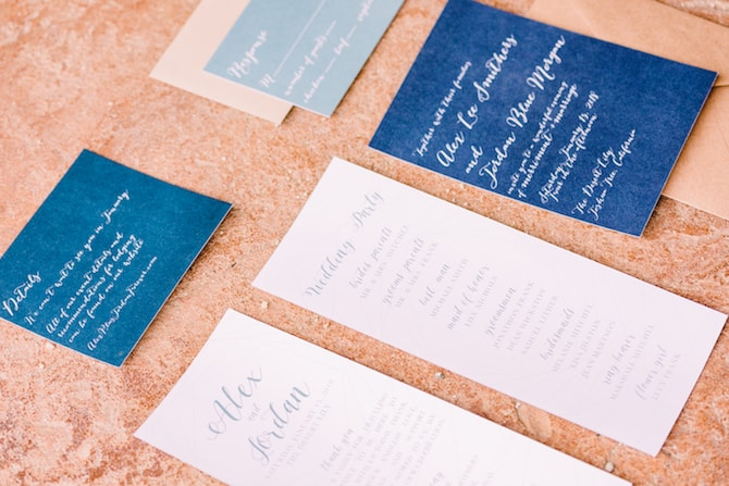 Blue and White Wedding Stationery