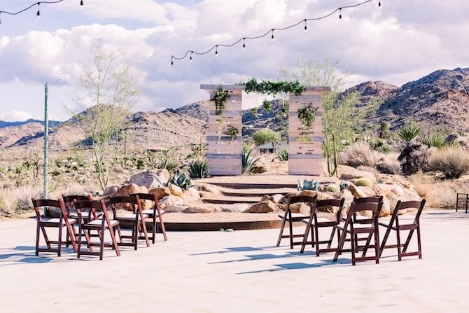 Chic outdoor wedding venue in California