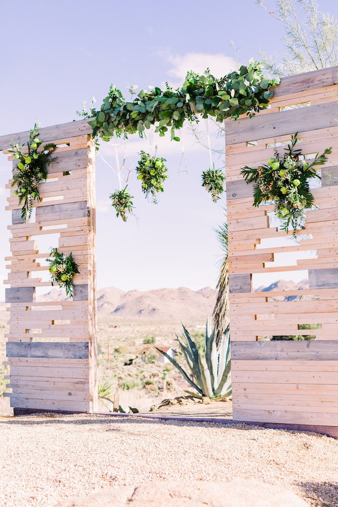 Outdoor wedding plants