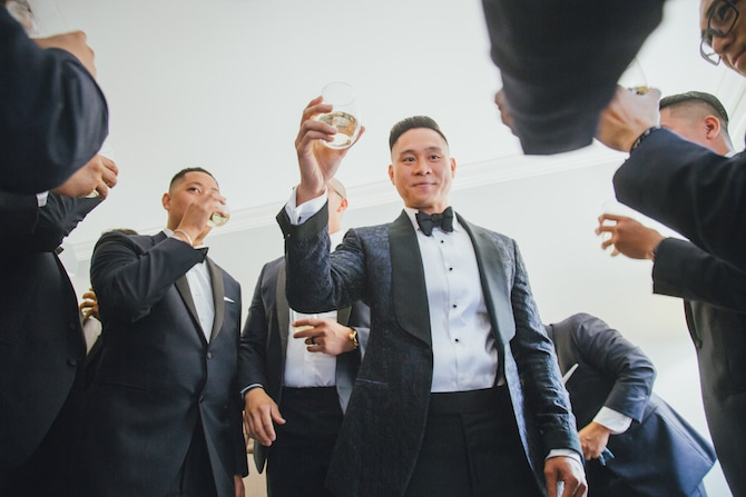 Groom before wedding | Fabulous Floral Wedding at The Park Savoy Estate