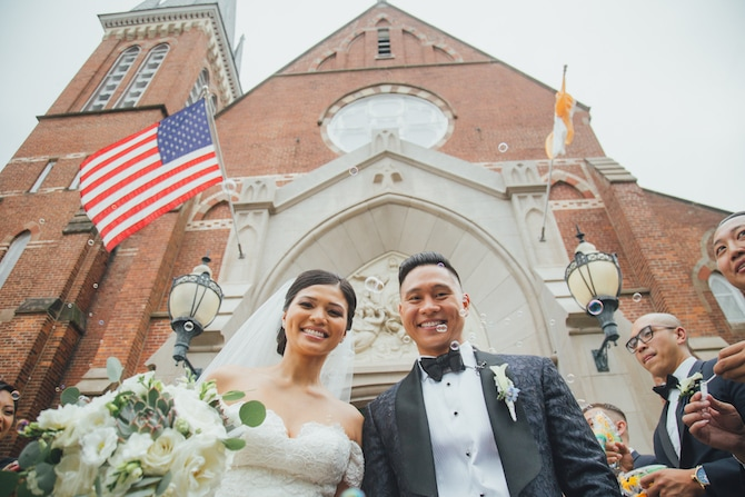 Bride and Groom after wedding ceremony | Fabulous Floral Wedding at The Park Savoy Estate