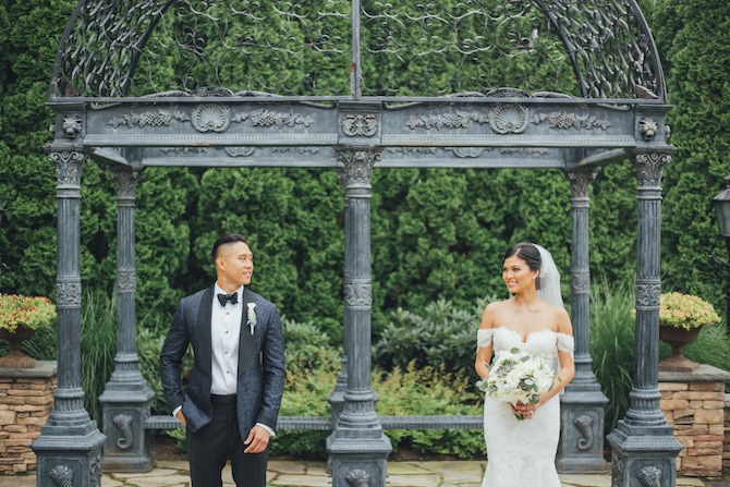Couple in garden | Fabulous Floral Wedding at The Park Savoy Estate