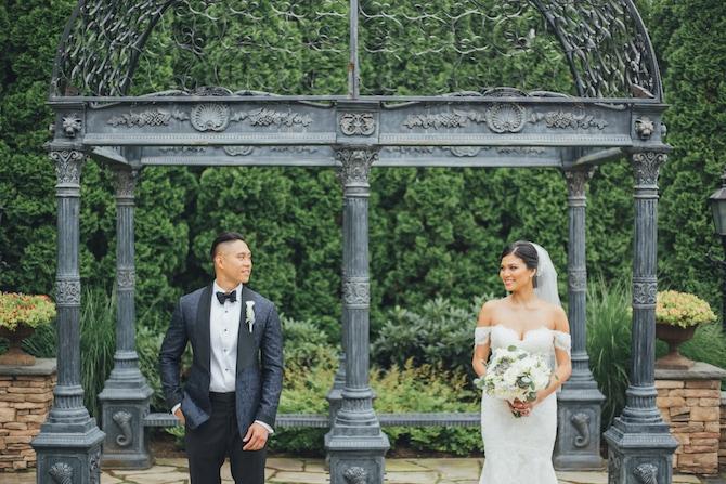 Couple in garden | Fabulous Floral Wedding at The Park Savoy Estate