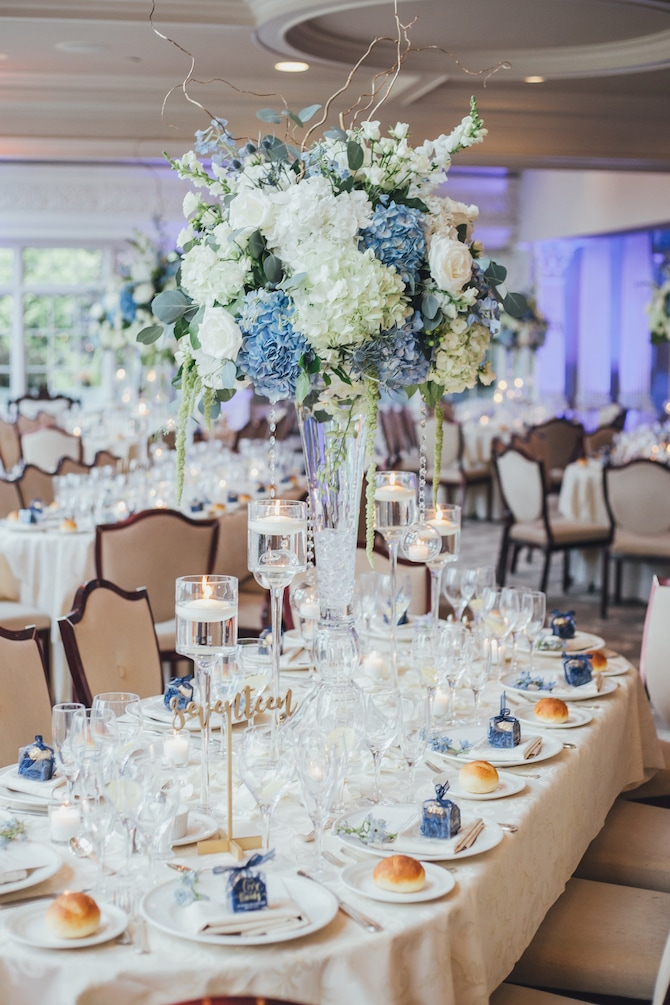 Floral wedding table inspiration | Fabulous Floral Wedding at The Park Savoy Estate