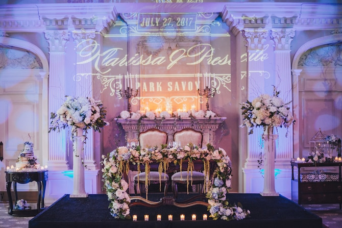 Wedding lighting | Fabulous Floral Wedding at The Park Savoy Estate