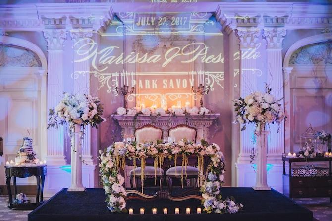 Wedding lighting | Fabulous Floral Wedding at The Park Savoy Estate