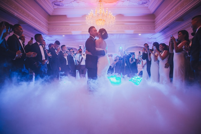Wedding smoke machine | Fabulous Floral Wedding at The Park Savoy Estate