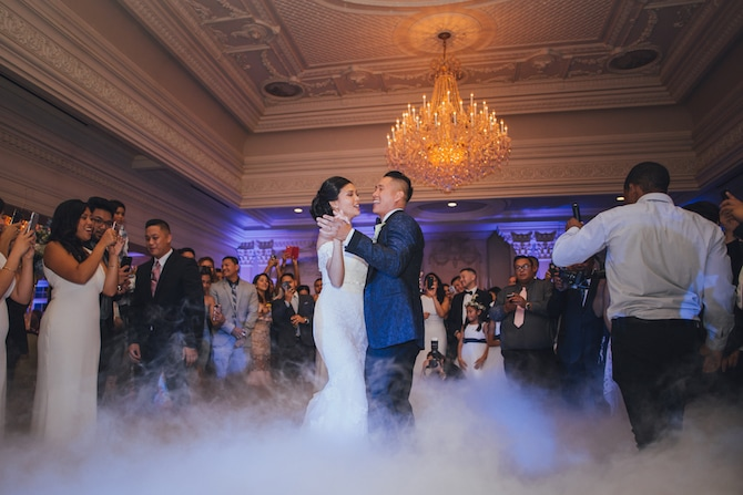 Wedding First Dance | Fabulous Floral Wedding at The Park Savoy Estate