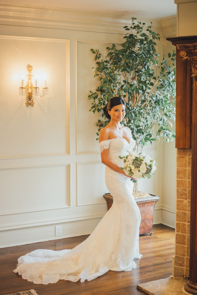Bride before wedding | Fabulous Floral Wedding at The Park Savoy Estate