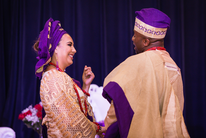 Wedding ceremony | Glamorous Multicultural Wedding in Kansas City