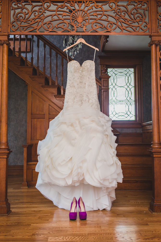 White wedding dress | Glamorous Multicultural Wedding in Kansas City