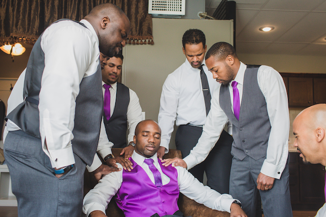 Groom before ceremony | Glamorous Multicultural Wedding in Kansas City