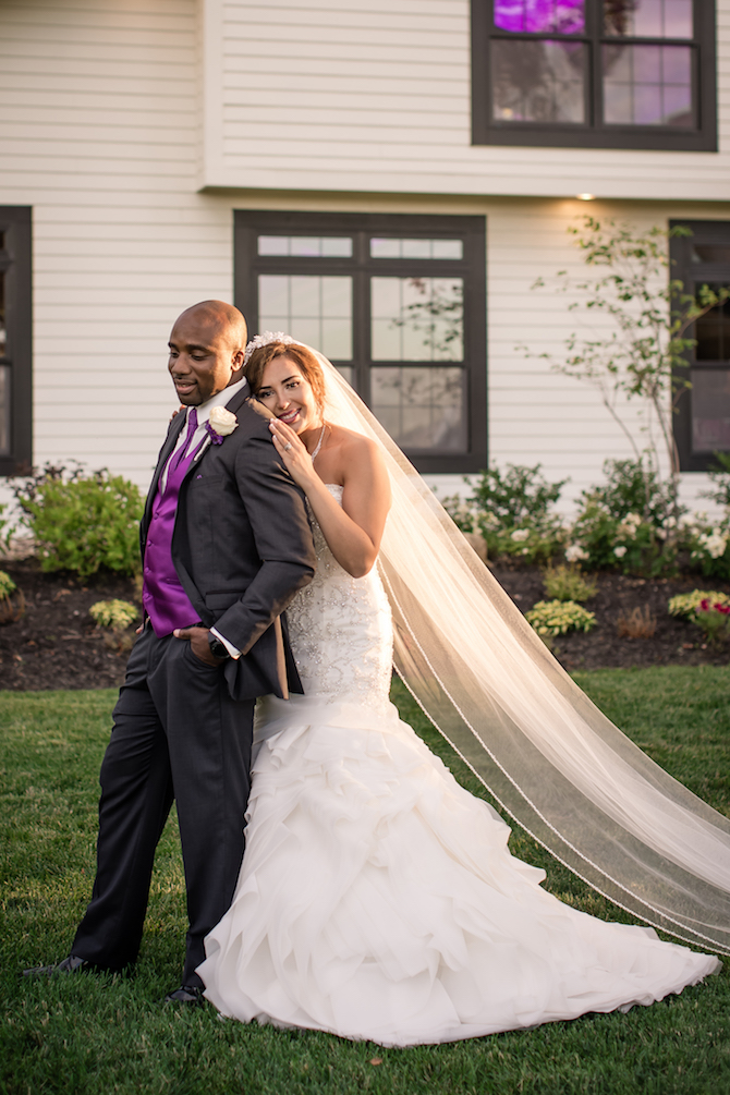 Newlyweds after wedding | Glamorous Multicultural Wedding in Kansas City