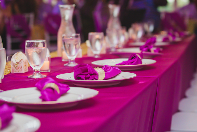 Purple wedding reception theme | Glamorous Multicultural Wedding in Kansas City