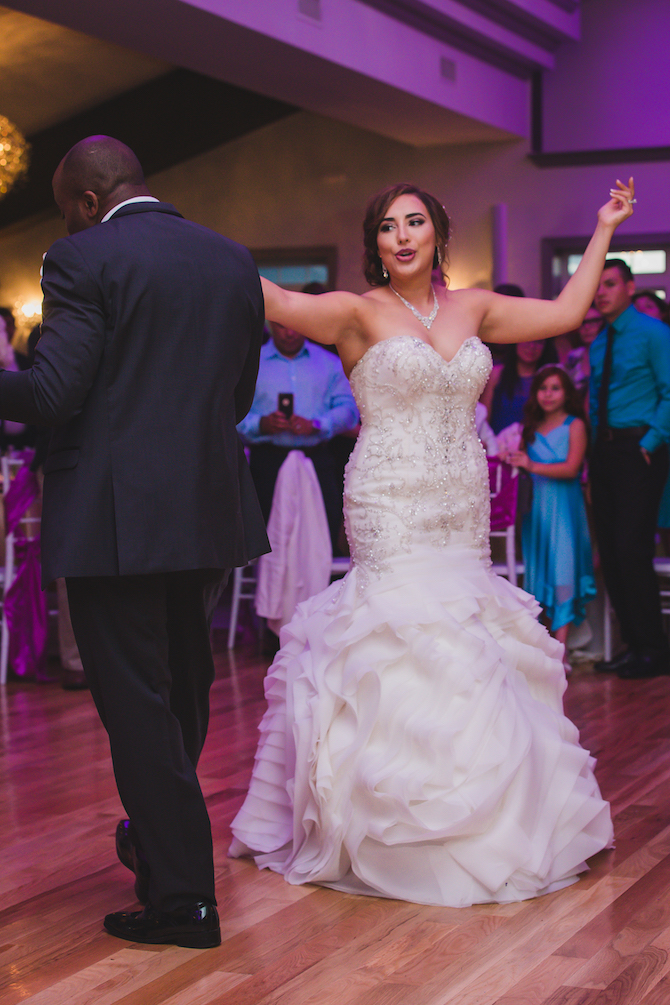 Newlyweds first dance | Glamorous Multicultural Wedding in Kansas City