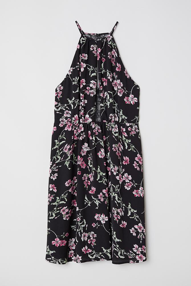 Guest Outfit Black Floral Dress