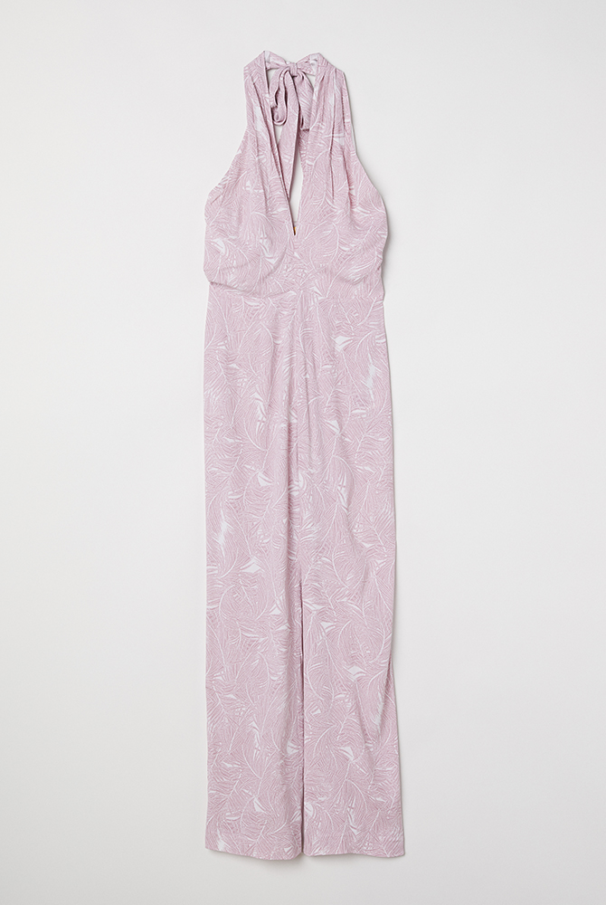 Guest Outfit Halterneck Purple Jumpsuit