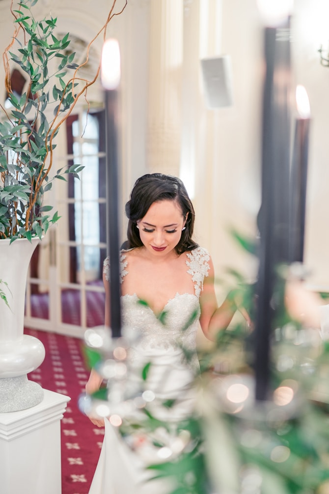 Beautiful Bride in Mayfair | Modern Monochrome Style in Mayfair