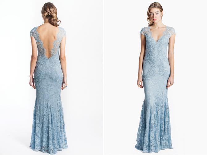 Pale blue bridesmaid dress from Olvi's