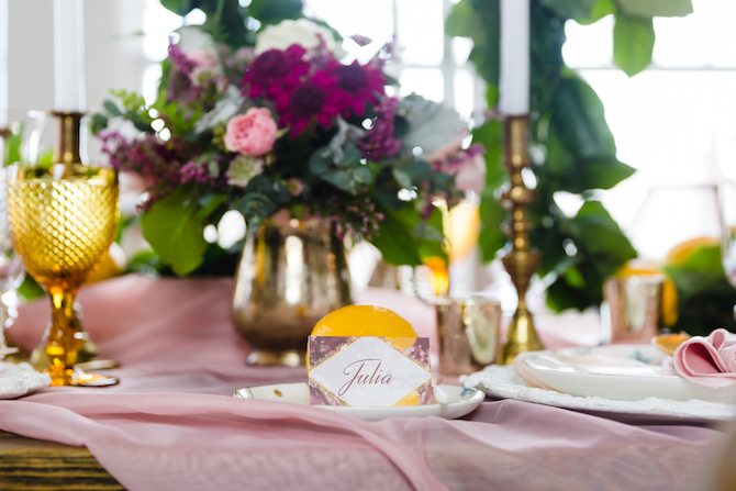 Lemon Fresh Spring Wedding Styling
