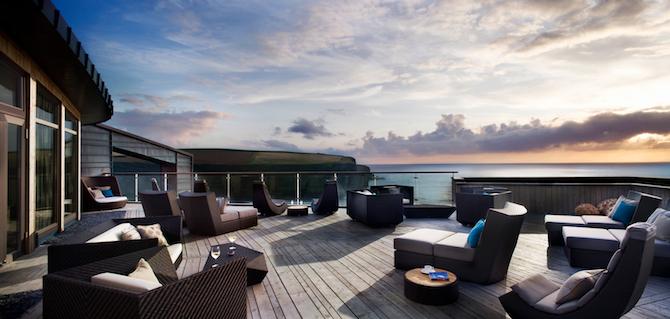 The Scarlet Hotel Terrace - Terrace overlooking the sea